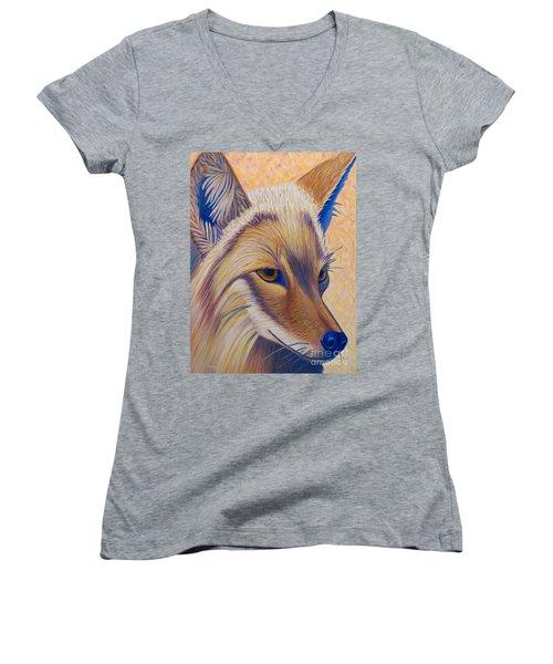 Coyote Summer Women's V-Neck T-Shirt