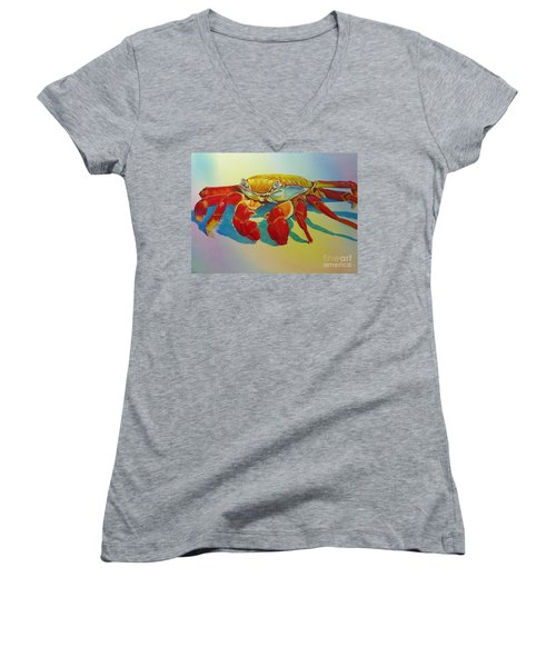 Colorful Crab  Women's V-Neck