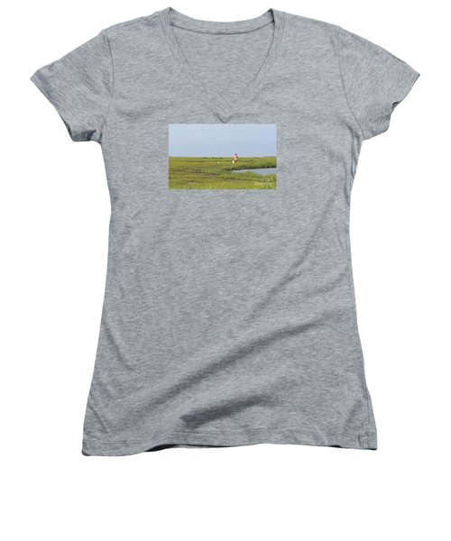 Crabbing At Mystic Island Women's V-Neck T-Shirt