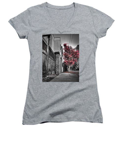 Crape Myrtles In Historic Downtown Charleston 2 Women's V-Neck T-Shirt