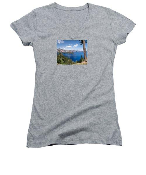 Crater Lake National Park Women's V-Neck (Athletic Fit)