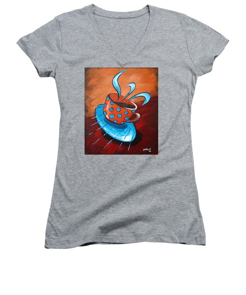 Crazy Coffee Women's V-Neck