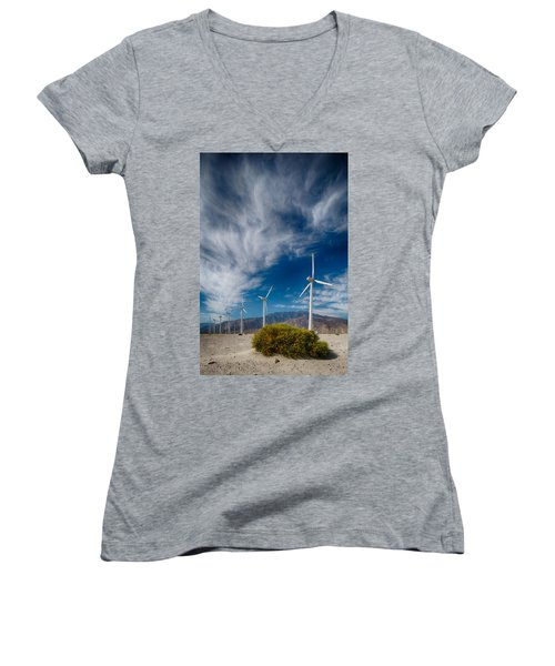 Creosote And Wind Turbines Women's V-Neck