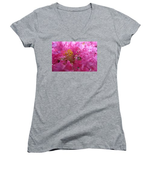 Crepe Myrtle In The Middle Women's V-Neck T-Shirt