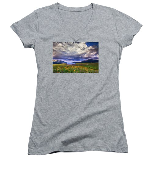 Crested Butte Morning Storm Women's V-Neck
