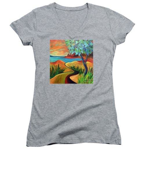 Crimson Shore Women's V-Neck T-Shirt
