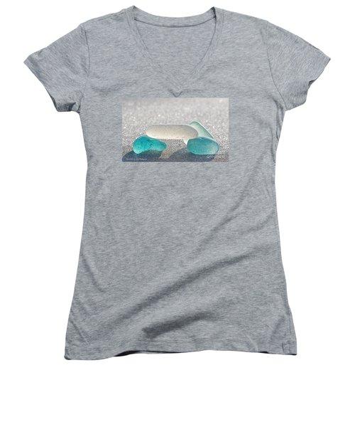 Cross This Bridge When.... Women's V-Neck T-Shirt (Junior Cut) by Barbara McMahon