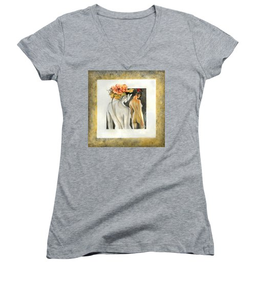 Crossing To The Another Side Of The  Shadow Women's V-Neck