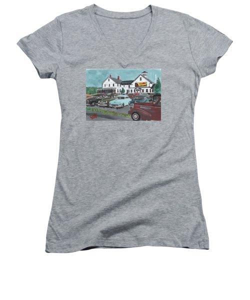 Crosti's Grove Women's V-Neck T-Shirt
