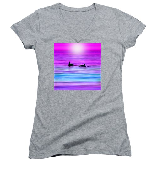 Cruisin' Together Women's V-Neck T-Shirt (Junior Cut)