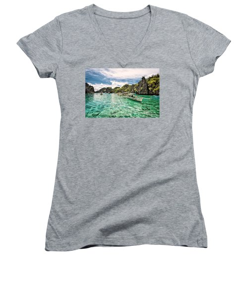 Crystal Water Fun Land Women's V-Neck (Athletic Fit)