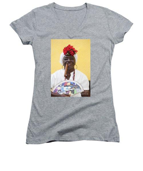 Cuban Lady Two Women's V-Neck T-Shirt