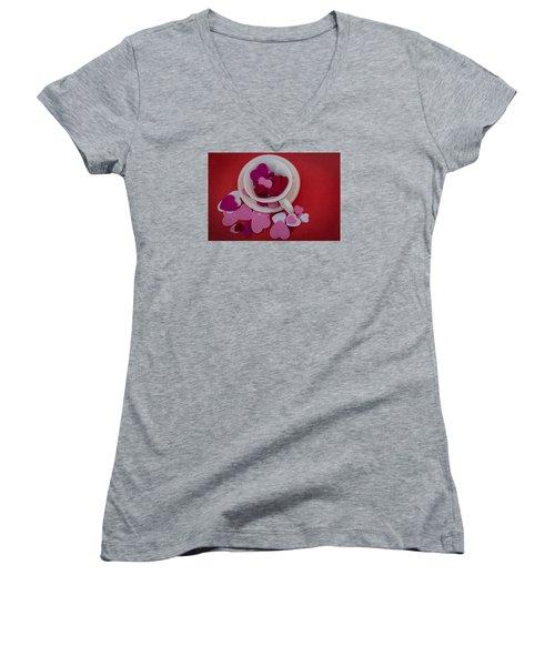 Cup Full Of Love Women's V-Neck T-Shirt