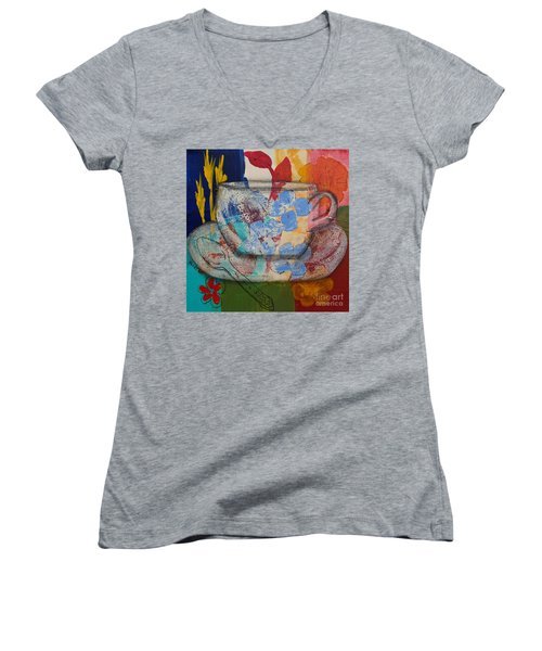 Cuppa Luv Women's V-Neck T-Shirt