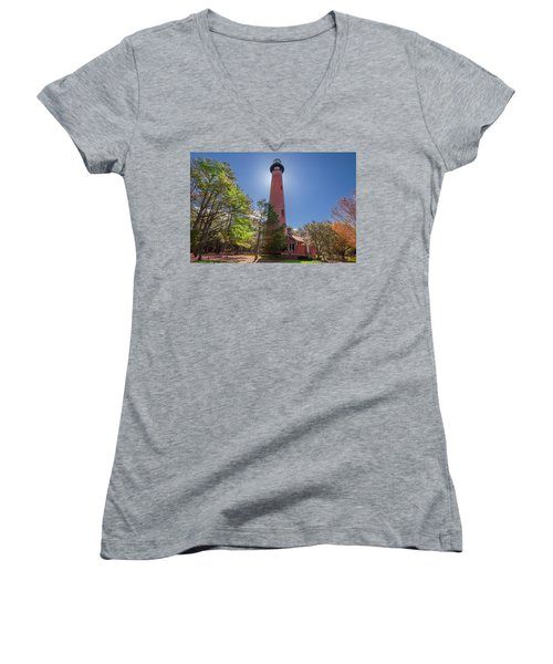 Currituck Beach Lighthouse  Women's V-Neck