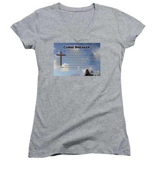 Curse Breaker Women's V-Neck T-Shirt