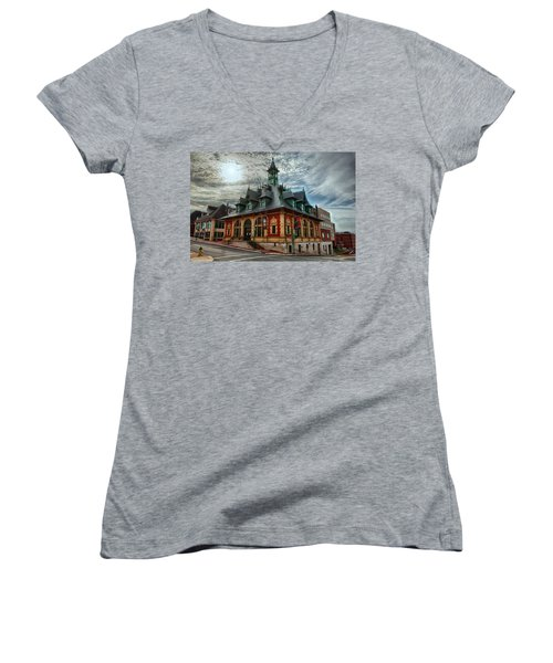Customs House Museum Women's V-Neck (Athletic Fit)