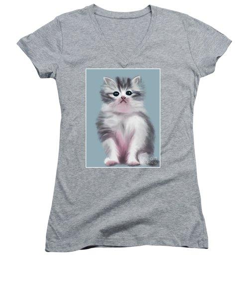 Cute Kitten Women's V-Neck