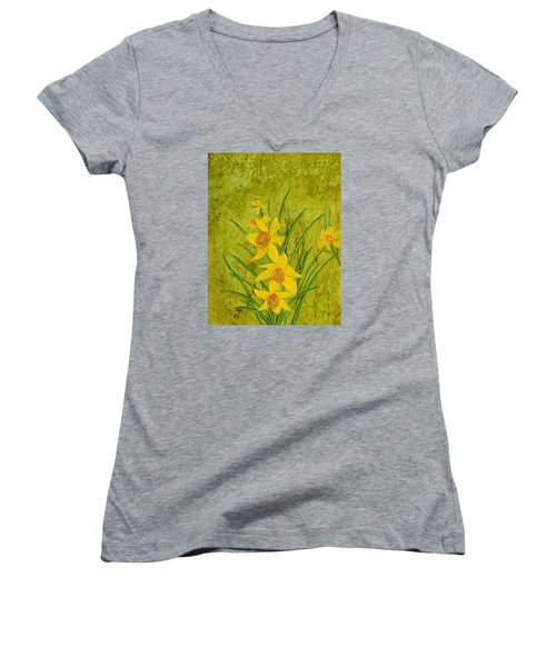 Daffodil Women's V-Neck T-Shirt