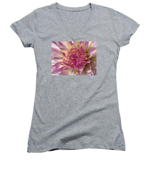 Dahlia Named Angela Dodi Women's V-Neck T-Shirt (Junior Cut) by J McCombie