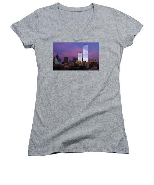 Dallas Sunset Women's V-Neck T-Shirt