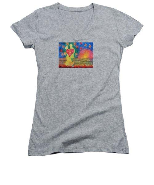 Danced Until Dawn Women's V-Neck T-Shirt