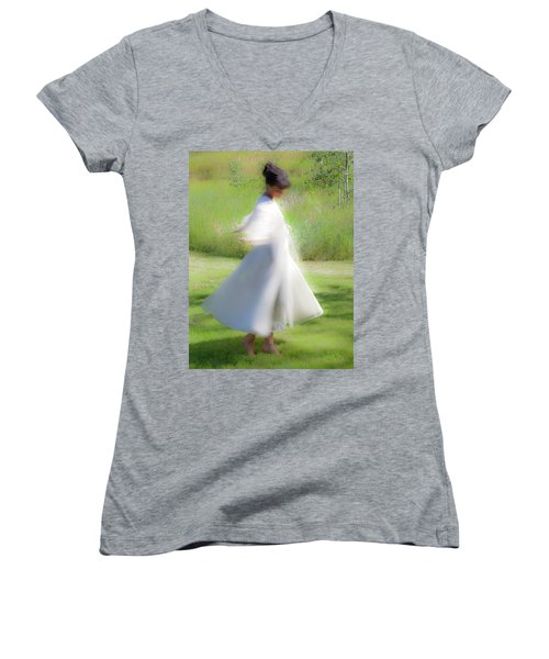 Dancing In The Sun Women's V-Neck (Athletic Fit)