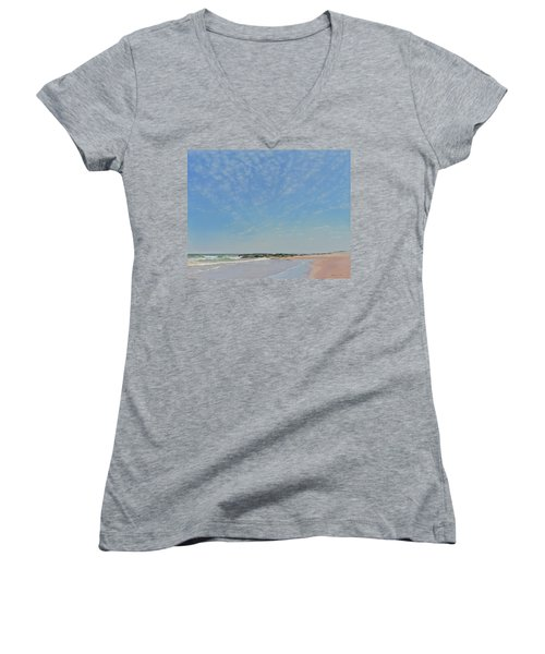 Dancing Sky In April Women's V-Neck T-Shirt (Junior Cut)