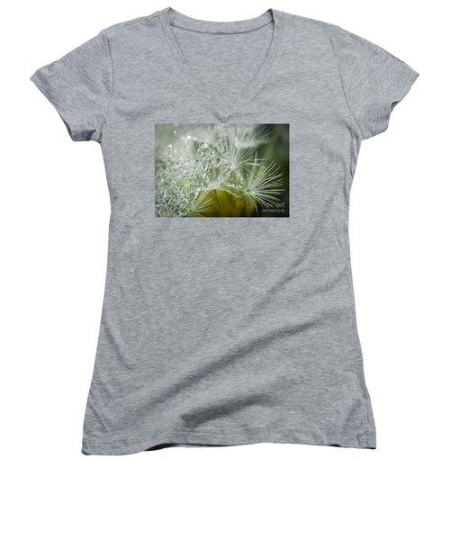 Dandelion Dew Women's V-Neck T-Shirt