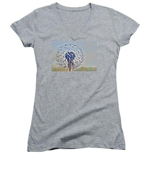 Dandelion Glow Women's V-Neck T-Shirt