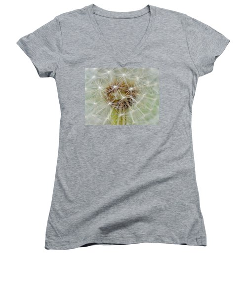 Dandelion Matrix Women's V-Neck (Athletic Fit)