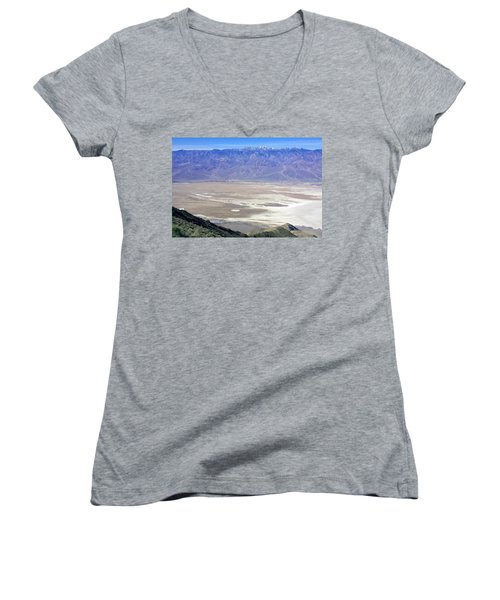 Women's V-Neck T-Shirt (Junior Cut) featuring the photograph Dante's View #4 by Stuart Litoff