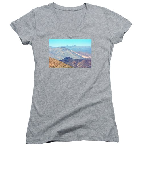 Women's V-Neck T-Shirt (Junior Cut) featuring the photograph Dante's View #5 by Stuart Litoff