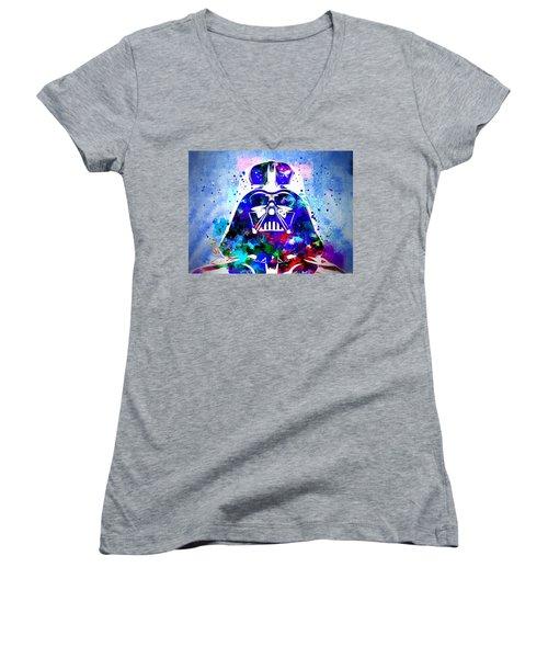 Darth Vader Star Wars Women's V-Neck T-Shirt (Junior Cut)