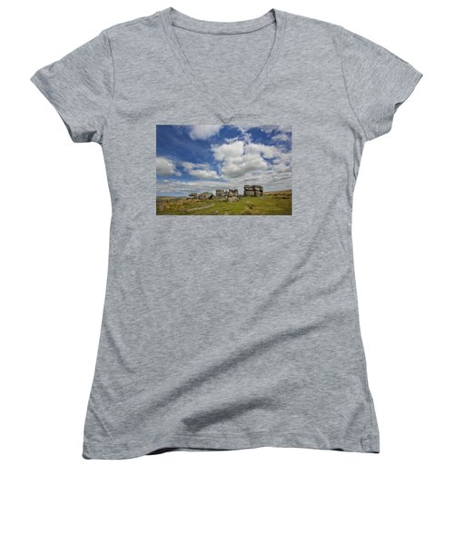 Dartmoor Tor Women's V-Neck (Athletic Fit)