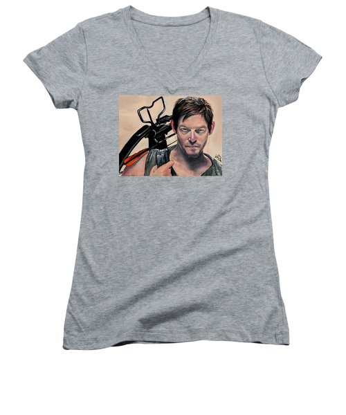 Daryl Dixon Women's V-Neck (Athletic Fit)