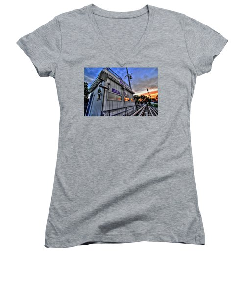 Dawg House Women's V-Neck T-Shirt (Junior Cut)