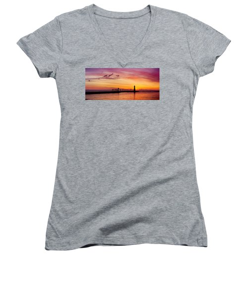 Dawn Of Promise Women's V-Neck T-Shirt (Junior Cut) by Bill Pevlor