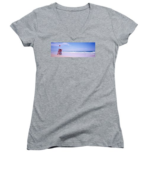 Daytona Beach Fl Life Guard  Women's V-Neck