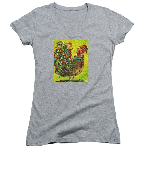 De Colores Rooster #2 Women's V-Neck T-Shirt