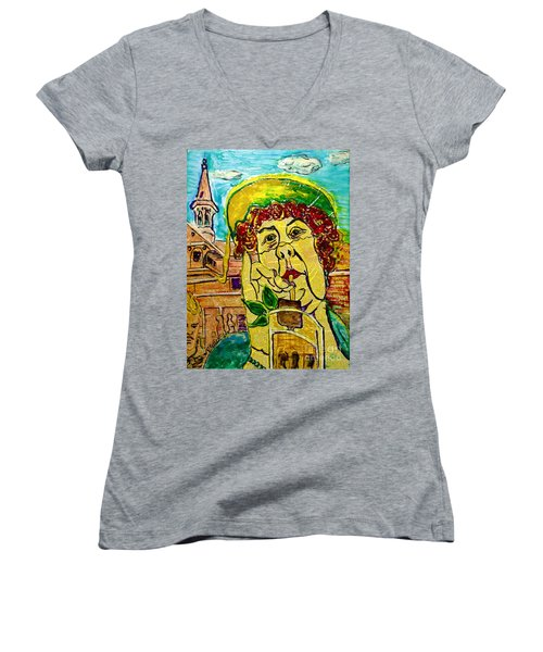 Decadent And Depraved On Derby Day Women's V-Neck (Athletic Fit)