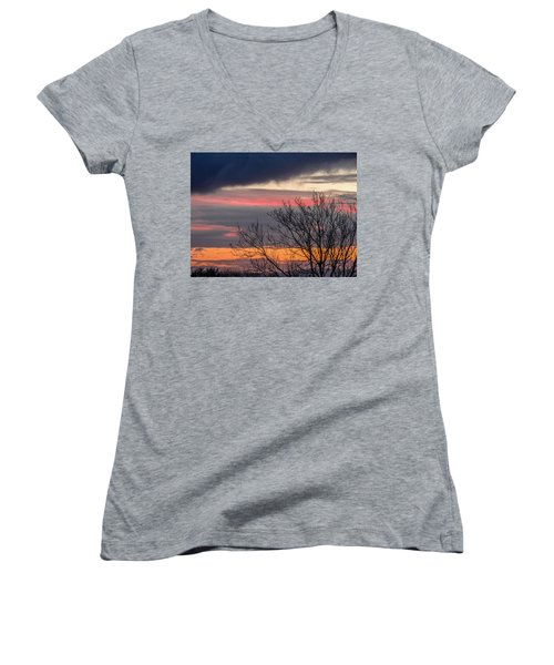 December County Clare Sunrise Women's V-Neck