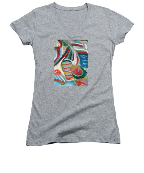Deep In Thought Women's V-Neck T-Shirt (Junior Cut) by Jeff Gater