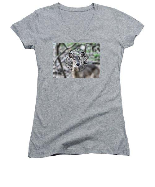Deer Hunter's View Women's V-Neck