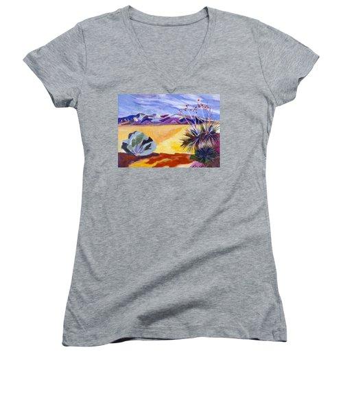 Desert And Mountains Women's V-Neck T-Shirt