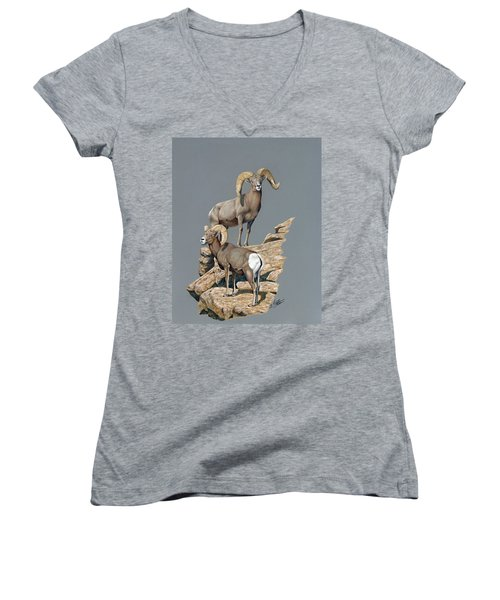 Desert Bighorn Rams Women's V-Neck (Athletic Fit)