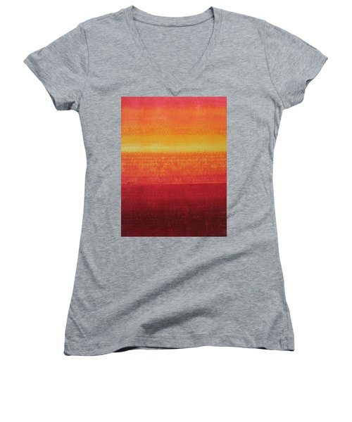 Desert Horizon Original Painting Women's V-Neck T-Shirt
