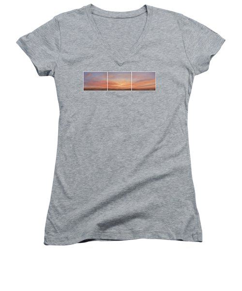 Desert Sky Triptych Women's V-Neck (Athletic Fit)