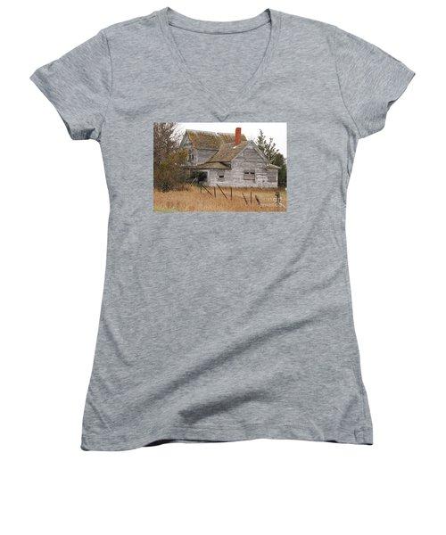 Deserted House Women's V-Neck T-Shirt (Junior Cut) by Mary Carol Story