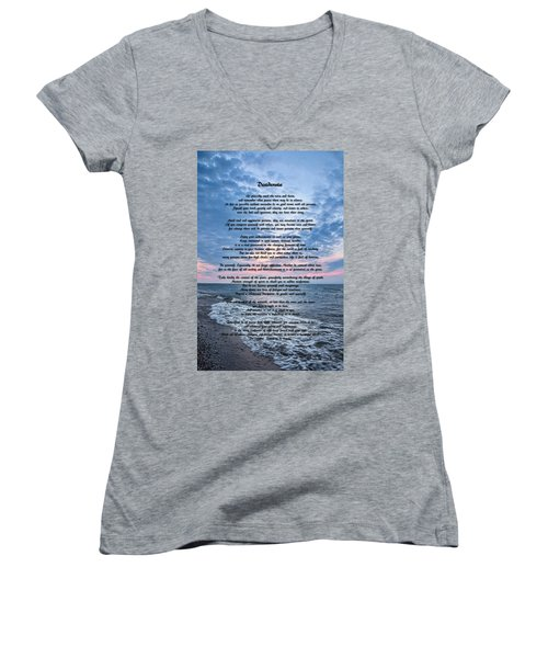Women's V-Neck featuring the photograph Desiderata Wisdom by Dale Kincaid